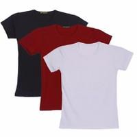 Combo bộ 3 áo thun - trắng đen đỏ