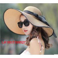 Nón mũ rộng vành đi biển mùa hè chống nắng thời trang - HKCRV013