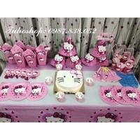 Sét sinh nhật để bàn- Kitty hồng