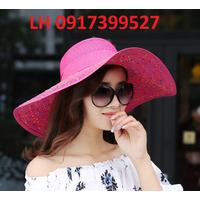 Nón mũ rộng vành đi biển mùa hè chống nắng thời trang - HKCRV014
