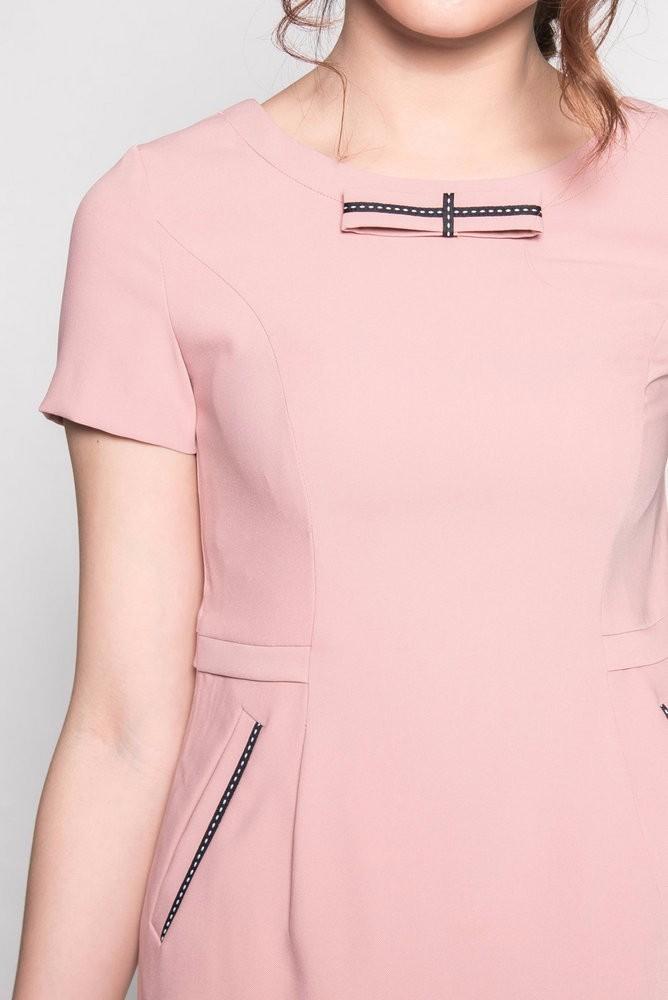 Đầm suông ngắn tay viền túi - ds40