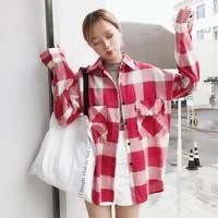 áo sơ mi flannel caro oversize Mã: AM1225 - ĐỎ