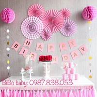 Sét sinh nhật Party fan- Bộ trang trí sinh nhật bằng giấy