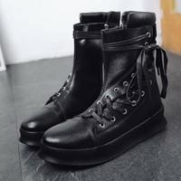giày boot nam dây đan xéo Mã: GH0577 - ĐEN