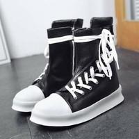 giày boot nam dây đan xéo Mã: GH0577 - TRẮNG