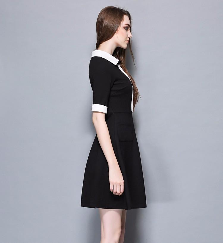 Đầm xòe tay lỡ phối trắng nẹp kín cao cấp. -dxt04