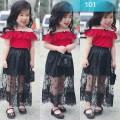 Váy áo ren và  chân váy maxi có dây cho bé gái kèm ảnh thật