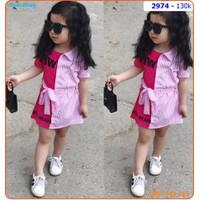 Đầm somi cách điệu phối màu lạ mắt và dễ thương cho bé