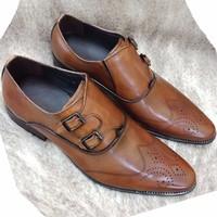 Giày tây nam da thật kiểu dáng Italia trẻ trung thanh lịch AD25N