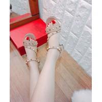Giày sandal cao gót nữ phối đinh cực chất