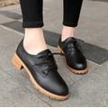 Giày oxford 3 phân da trơn phong cách vintage MÀU ĐEN