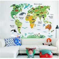 Decal bản đồ thế giới 3 LaLa Shop