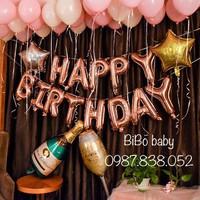 Sét sinh nhật ly sampanh và bóng đặc biệt