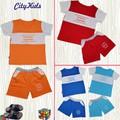 SET 4 Bộ quần áo em in CITYKIDS 4 màu - Hiệu CITYKIDS