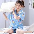 Bộ đồ pyjama cộc tay cute cho nữ BMNG2