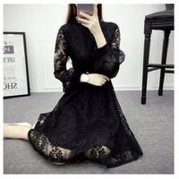Đầm váy ren tay dài