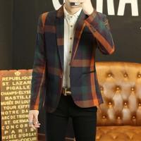 áo khoác blazer kẻ sọc phối màu Mã: NK1214 - CAM