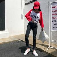 quần skinny jeans rách Mã: QD1815 - ĐEN