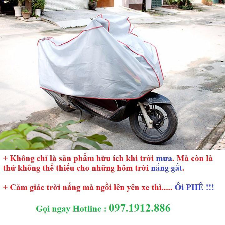Bạt phủ xe máy chống nắng mưa -4