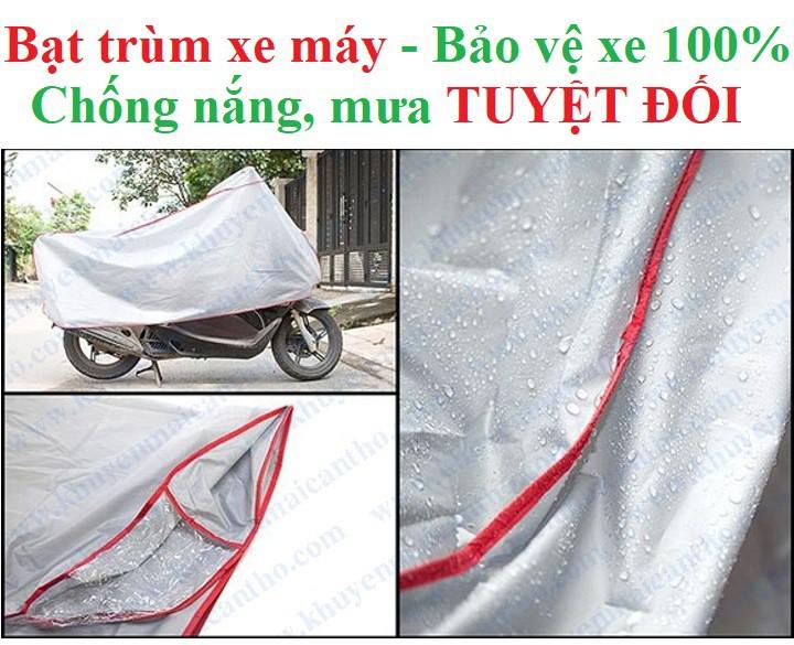 Bạt phủ xe máy chống nắng mưa -1