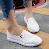 Giày mọi thời trang nữ phối sọc hàng nhập - LN1547