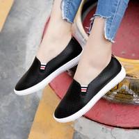 Giày mọi thời trang nữ phối sọc hàng nhập - LN1546