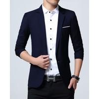 Áo khoác vest nam kaki xanh navi - 41601