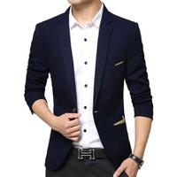 áo khoác vest nam kaki xanh navi - 41611