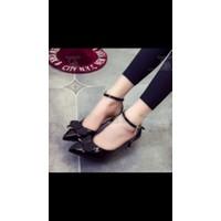 giày gót thấp nơ xinh
