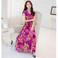 Đầm vintage họa tiết hoa