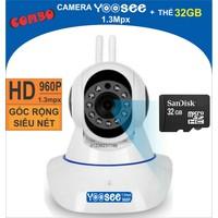 Bộ Camera YooSee 1.3mpx - 960P Kèm thẻ nhớ 32Gb Chính hãng