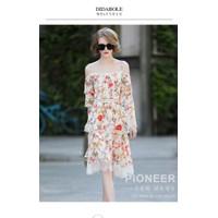 Đầm xoè nữ hoạ tiết hoa cực đẹp