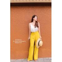 áo dây quần suông vàng