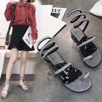 giày sandal xỏ ngón kim tuyến 3891
