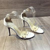 Giày sandal cao gót phối đinh cực chất