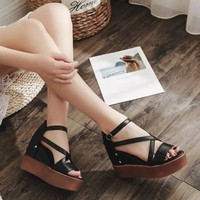 Giày sandal đế xuồng nữ siêu hót
