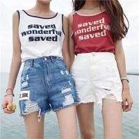 quần short jeans concrete Mã: QN837 - TRẮNG