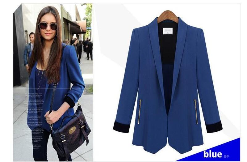 Áo khoác vest vạt xẻ phong cách