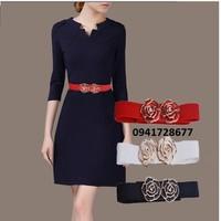 thắt lưng dây nịt nữ cho quần tây đầm váy Rose