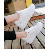Giày bata trắng hoa hồng cực đẹp
