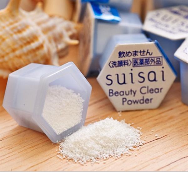 Kết quả hình ảnh cho bột rửa mặt suisai kanebo nhật bản 32 viên