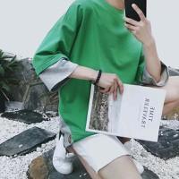 áo thun nam giả 2 áo phối màu Mã: NT2003 - XANH LÁ