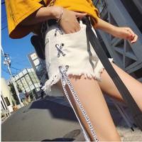 quần short jeans đan dây Mã: QN813 - TRẮNG