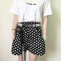 quần short nữ cạp cao chấm bi Mã: QN826