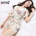 Áo choàng ngủ hoạ tiết hoa kèm dây siêu quyến rũ VN95