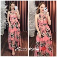 Đầm xãi nữ hoạ tiết hoa cực đẹp