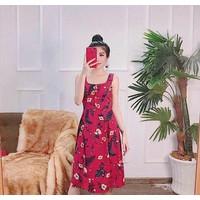 đầm hoa nút