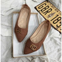 Giày búp bê khóa xinh
