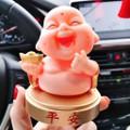 Tượng Phật Cười - Phật Di Lạc - cầu bình an *có đế dán xe hơi*