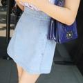 Chân váy jean ngắn xẻ 2 túi